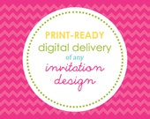 PRINTABLE - Digital Delivery of Any Sweet Wishes Invitation Design