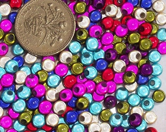 100 x 5mm Multi-Coloured Miracle Beads