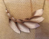 Petal Collection: Smoky Gold Leather Petal Necklace