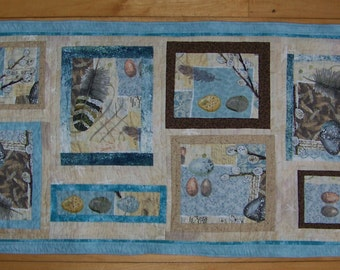One of a Kind Revrsible Natural Delights Modern Table Runner or Table Mat
