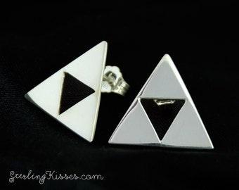 Triforce Earrings Sterling Silver