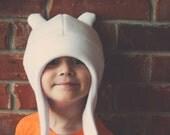 Finn the Human Inspired Hat - Cosplay - Adventure Time - Fleece Cap -