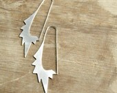 Big Star Oval Hoops - sterling silver, geometric, gipsy, punk earrings, big, long, made in Italy