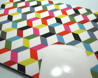 Buy 2 FREE SHIPPING Special!!   Mouse Pad, Fabric Mousepad   Ziggy Chevron Mini