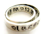 Personalized Rings Sterling Silver With Secret Message Inside