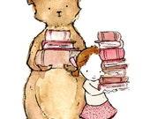 Nursery Art -- The Bookish Sort -- Art Print
