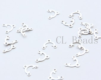 30pcs White Gold Tone Brass Base Connector - Earring Component 10x9mm (1699C-T-170)