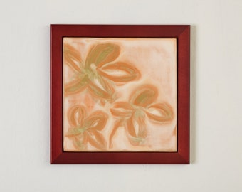 Tile Wall Hanging Framed Flowers
