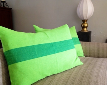 Green handwoven cushion covers set of 2