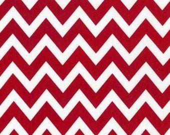 Ann Kelle  REMIX Red Medium Chevron for Robert Kaufman Fabrics  - 1/2 Yard