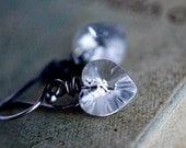Crystal Clear Crystal Heart Earrings Silver Dangle Valentines Ice Frost Winter