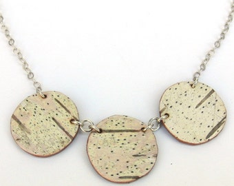 Birch bark necklace, Circlet Necklace