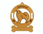 3852 Samoyed Standing Personalized Dog Ornament