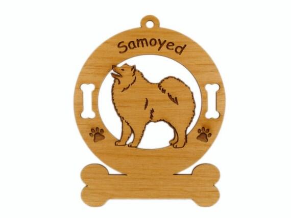 3852 Samoyed Standing Personalized Dog Ornament