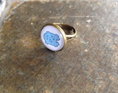 UNC Chapel Hill - adjustable glass ring