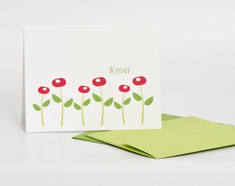 Stationery Set, Poppy, Poppy Stationery Set (20) plus Matching Address Labels
