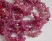SALE Fabulously Pink Natural Sapphire Raw Hammered Briolette Beads 1/2 Strand