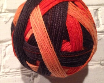 Witchy poo self striping Halloween sock yarn