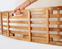 Lido, collapsible folding tray, display, recycled oak wine barrel staves