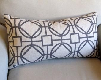 SURI MIDNIGHT GREY decorative pillow cover 18x18 20x20 22x22 24x24 26x26 13x26