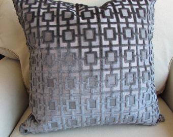 Items Similar To Robert Allen Velvet Geo Turquoise Pillow