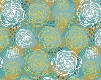 Blend Fabrics • Harmony • Floral blue Cotton Fabric 001902