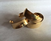 3/4 inch Brass Cuff Bracelet Blanks Your Choice of Flat, Domed or Concave