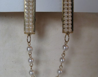 Pearl Gold Sweater Clip Guard Vintage