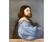 Portrait of a Man by Titian - a Frameable Vintage 1955 Art Print