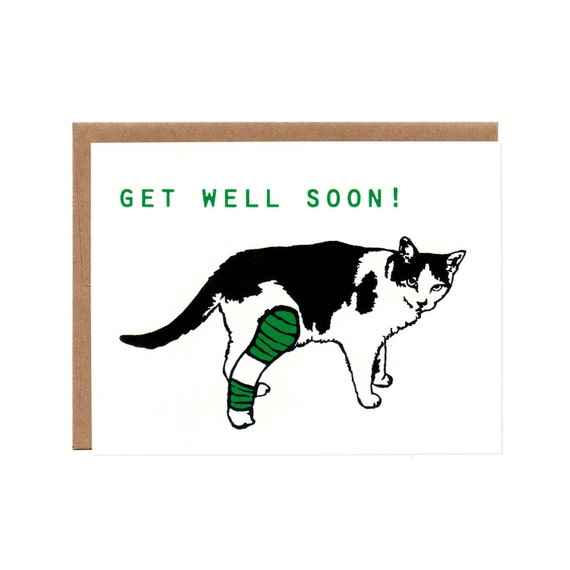 Get Well Soon -- Blank Recycled Card