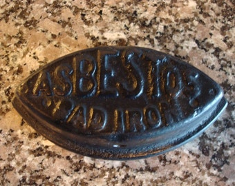 "Old ""Asbestos"" sad iron"