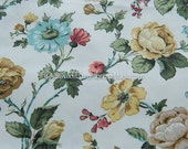 Gorgeous Shabby Cottage Floral  - Vintage Fabric 60s 70s New Old Stock Gardens (Reserved)