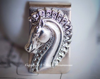 Pterippus Money Clip - Greek Winged Horse God Pegasus - American Made Brass
