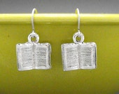 Book Earrings Dangle Bookish Bibliophile Literary Jewelry