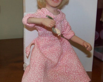 OOAK Miniature Blonde Doll 8inches