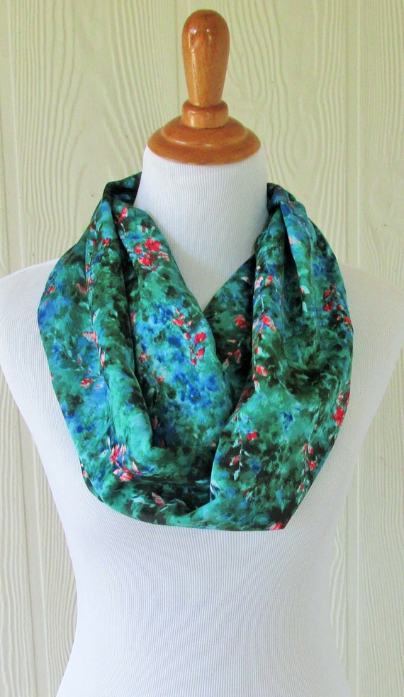 green floral infinity scarf colorful s scarf