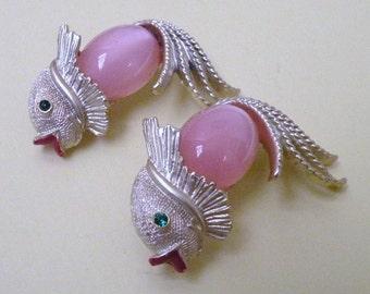 Vintage Pink Koi Fish Scatter Pins