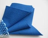 Blue Wool Felt, 100% Wool, Choose Size, Waldorf Handwork, DIY Craft Supply, Quilt Applique, Stuffed Toy Fabric, Felted Wool, Washable Felt