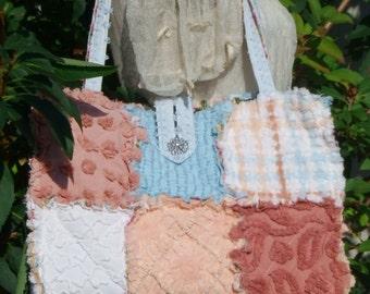 Cinnamon Sky Vintage Chenille Fabric Purse