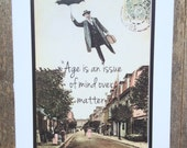 Vintage style funny card. Birthday/ retirement card #11