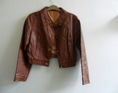 1970s Faux Leather Jacket - SALE PRICE