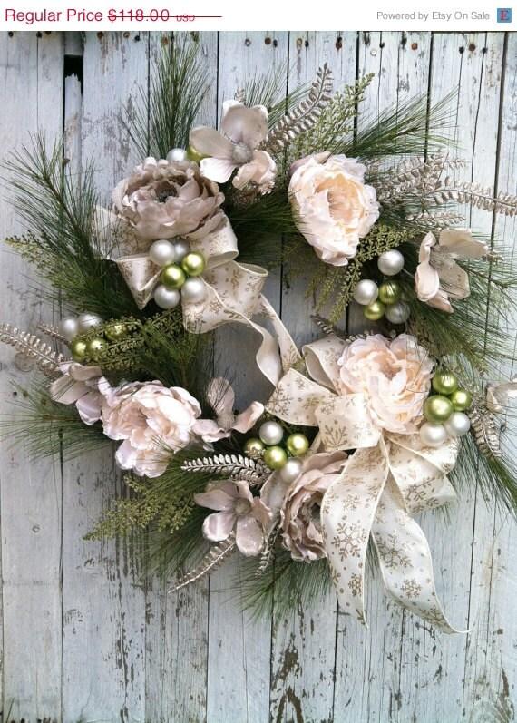 Items Similar To Large Elegant Christmas Wreath Holiday