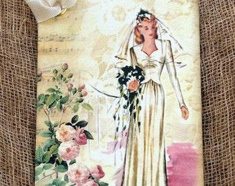 Retro Bride Wedding Tags #338