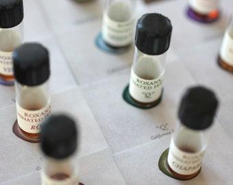 Natural Perfume Sampler - Eco Luxe, Organic From Nature - Rose, Jasmine, Wood, Vanilla, Amber, choose your favorites