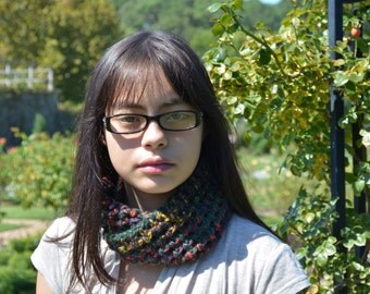 Shades of Rasta Infinity Scarf Perfect for Fall or Winter