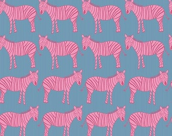 Zaza Zoo Zebras by Marissa and Creative Thursday and Andover Fabrics Half Yard