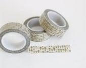 Gold metallic triangles washi tape, gold geometric washi tape, Japanese masking tape, craft supply