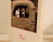 Card ,Goat Truck Driver, Oh Baby ,Handmade Card