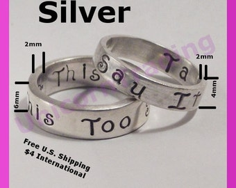 2 Boutique Rings4& 6mm  Personalized