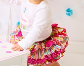 Four Ruffle All Around Ruffle Sassy Pants Ruffled Diaper Cover Bodysuit  Appliqued Cupcake Monogram